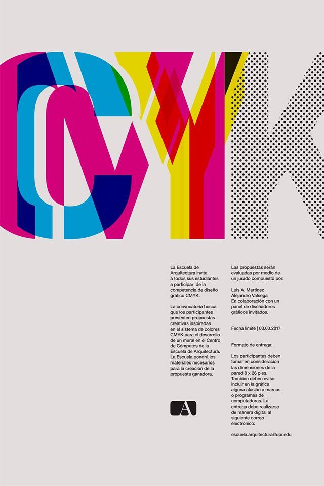 Poster de evento sobre competencia del diseño gráfico para un mural
