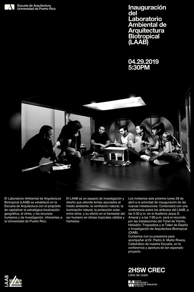 Imagen de promo para la inauguracion del Laboratorio Ambiental de Arquitectura Biotropical (LAAB)