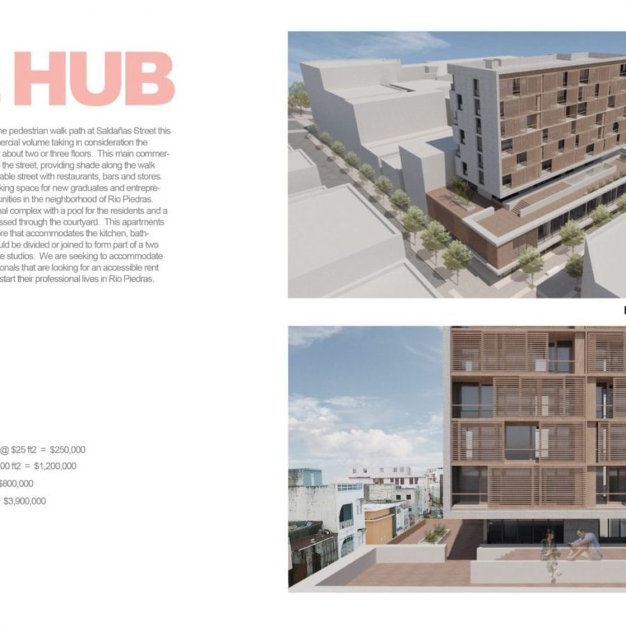 Propuesta Arquitectónica realizada por Marcos J. Ortíz para el curso ARQU-6311