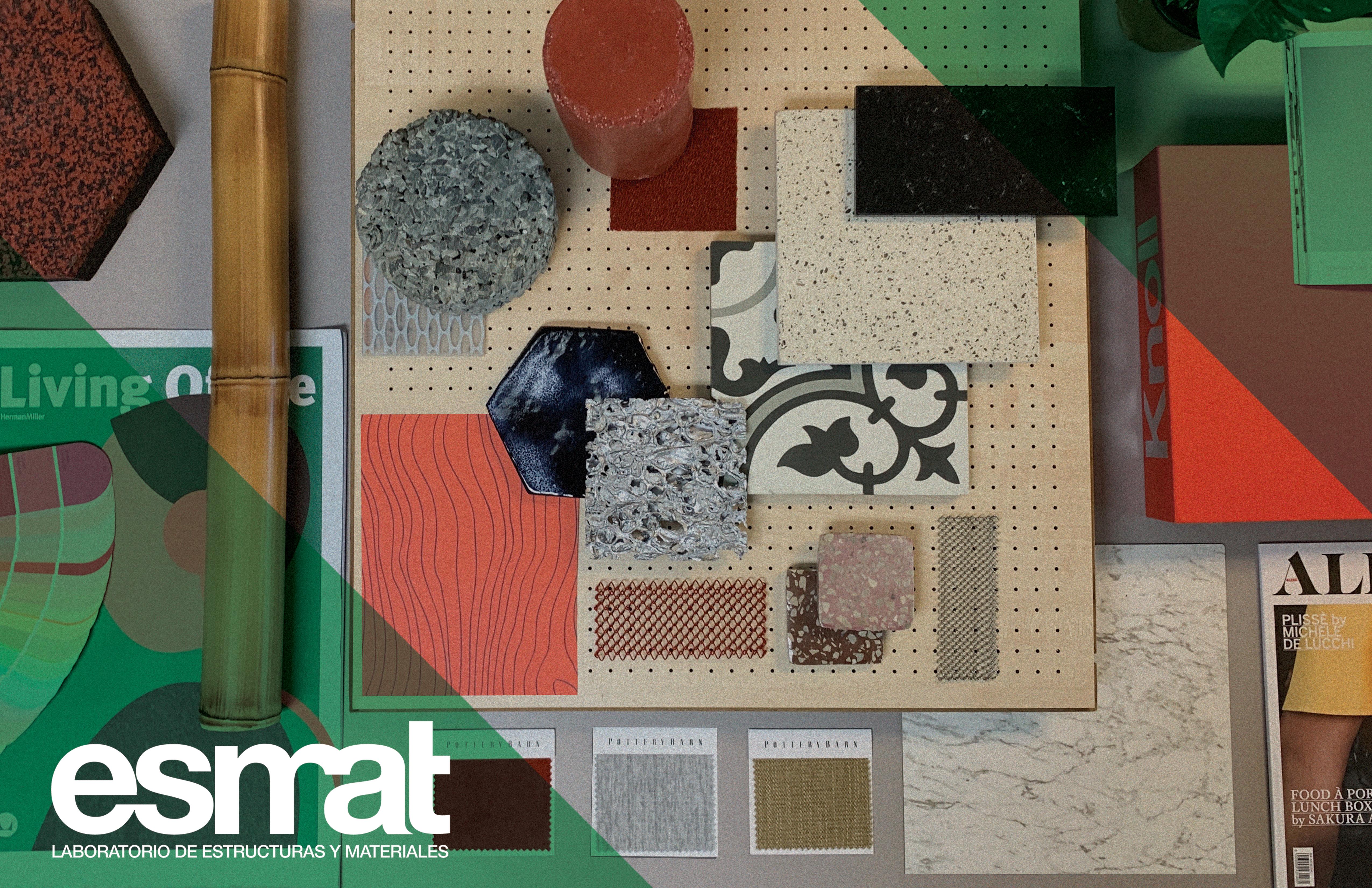 Imagen de materiales de muestra en el ESMAT